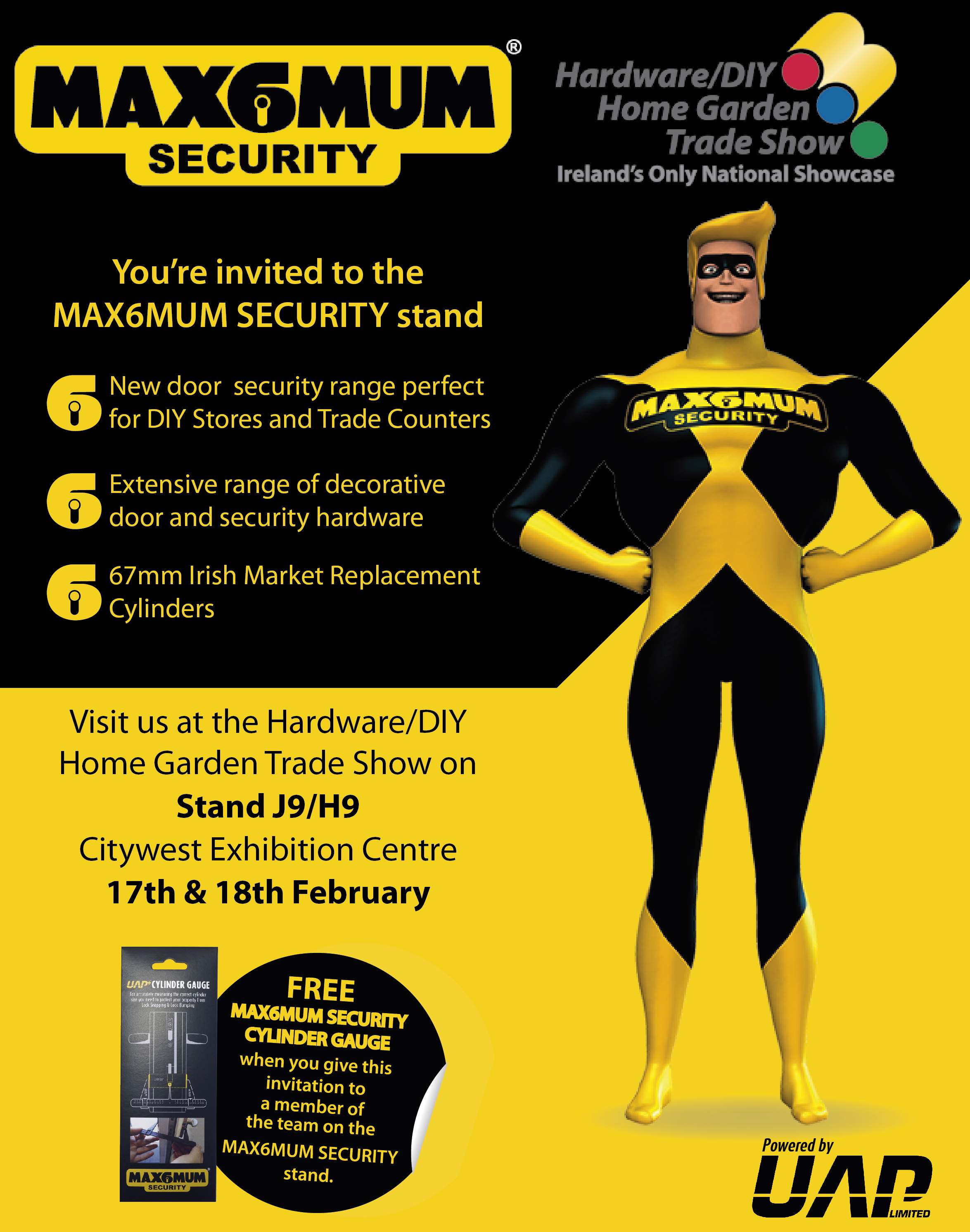Exhibition Stand Invitation : You re invited to the max mum security stand at irish